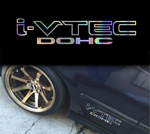 I-vtec-dohc-honda-holographic-oil-slick-chome-windshield-sticker-JDM-mugen-decal
