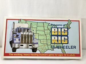 Vintage 1985 The Game of BIG RIG 18 WHEELER Truckers Family Orientated Game NOS
