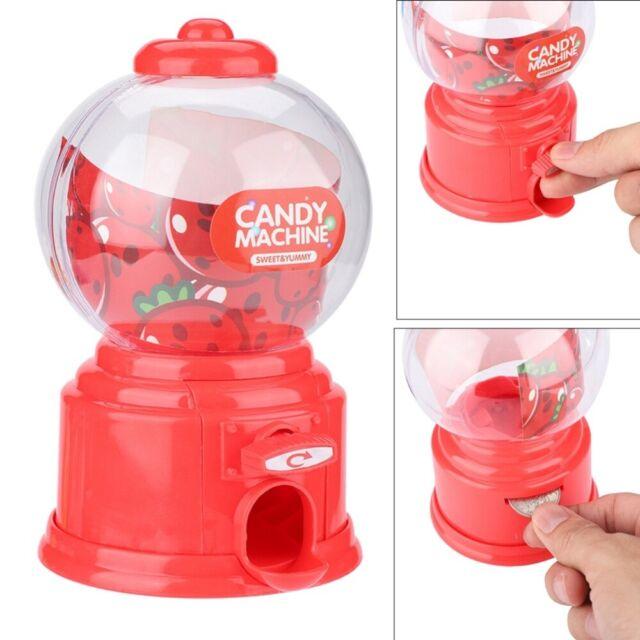Mini Cute Candy Machine Dispenser Gumball Vending Machine Coin Box Gift