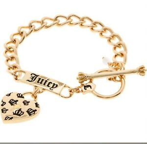JUICY-COUTURE-Gold-Tone-Branded-Chain-Bracelet-NEW-WITH-BOX