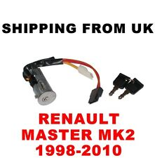 IGNITION SWITCH LOCK BARREL & KEYS RENAULT MASTER MK2 II WITHOUT IMMOBILIZER