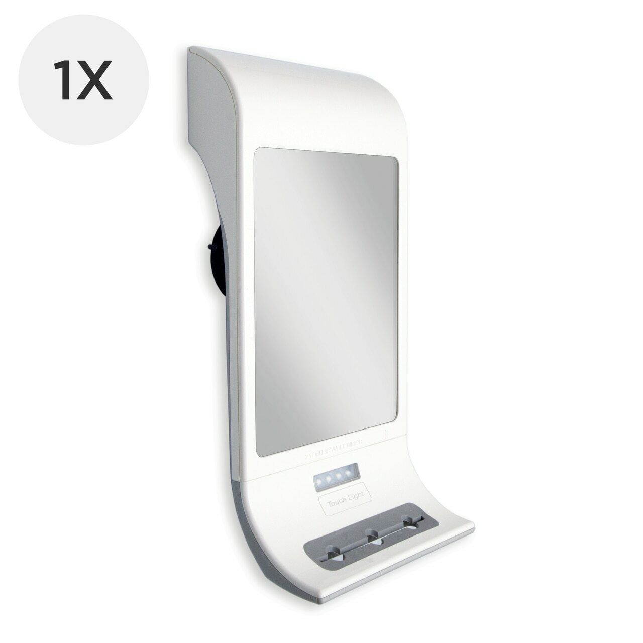 Zadro Z Fogless Water Mirror with LED Light Panel and Tri Accessory Holder,