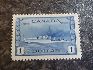 CANADA-POSTAGE-STAMP-SG388-1-BLUE-LIGHTLY-MOUNTED-MINT