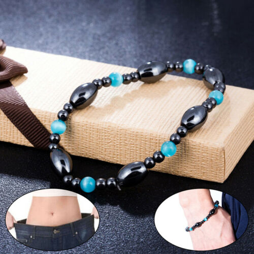 1Pc Vintage Black Stone Magnetic Jewelry Bracelet Anklet Health Slimming  lsALUK