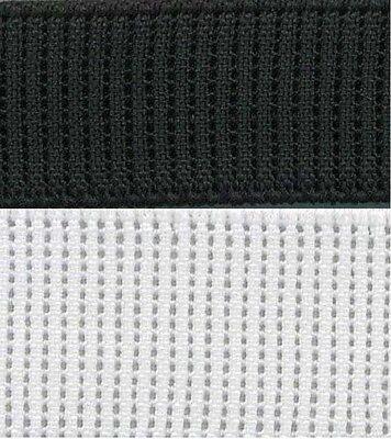 Knitted FOE 6,12,18,19,20,25,32mm Birch Elastic Braided BLK-W-Nude