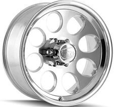 "4-NEW ION 171 15x8 5x4.75"" -27mm Polished Wheels Rims"