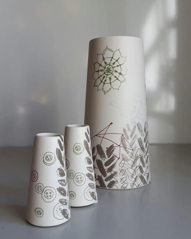 Keramik, Vase x 3, New Scandinavian Design - Grano