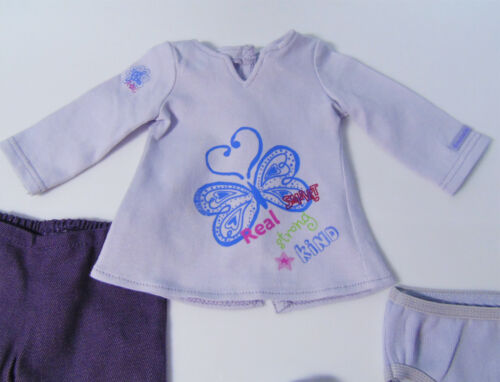 American Girl Doll Clothes REAL ME MEET OUTFIT Purple Capris Tunic Shoes Panties
