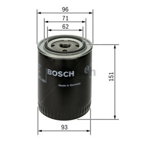 Single BOSCH Premium Oil Filter 0451203012