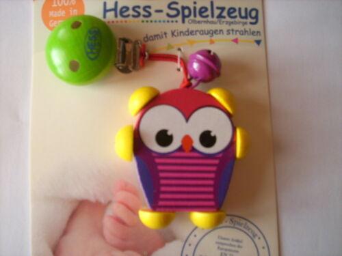 Hess Holzspielzeug Clipfigur Eule verschiedene Farben