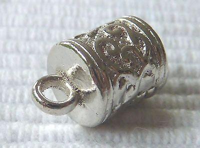 ENDKAPPE Hülse Endteil 13 mm 5,5 mm innen für Lederband silber verziert 2465