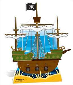 Great fun for Parties Pirate Stand In Cardboard Cutout Stand Up Child Sized