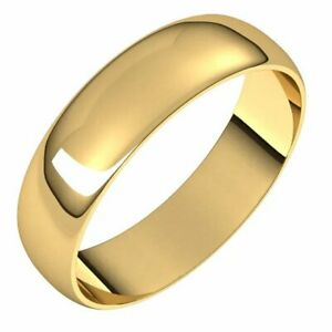 Mens 18K Yellow Gold 2.5mm Edged Half Round Wedding Band Ring