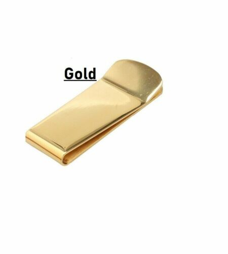 Money Clip Holder Cash Note Thin Stainless Steel Silver Gold Case Wallet Gift