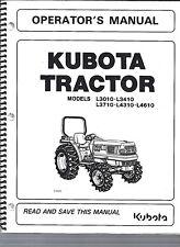 kubota l3010 l3410 l3710 l4310 tractor operator manual ebay rh ebay com kubota l3010 parts manual kubota l3010 gst manual