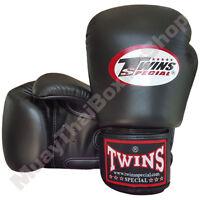 Twins Special Muay Thai Boxing Plain Gloves BGVL-3-BK Black 8-10-12-14-16 oz.
