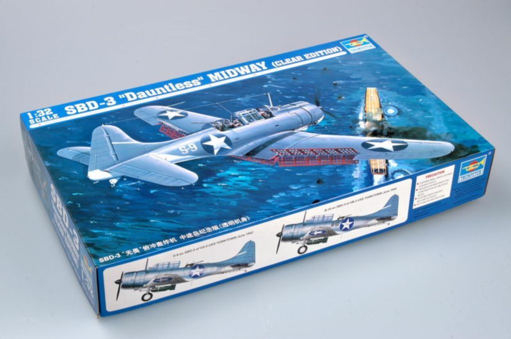 ◆ Trumpeter  1 32 02244 SBD-3 DAUNTLESS MIDWAY CLEAR EDITION model kit
