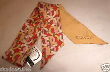 NWT COACH 100% Silk Kristin Chain Pony Tail Bag or Neck Scarf 83302