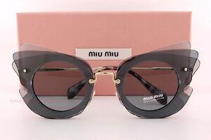 Brand-New-Miu-Miu-Sunglasses-MU-02SS-VA4-3C2-Dark-Light-Grey-Blue-Women