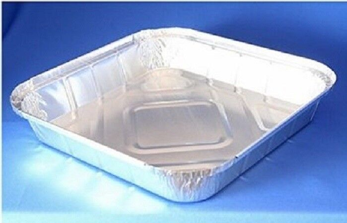 Large SHALLOW Aluminium Catering Foil Storage Home Take Away Containers+Lids