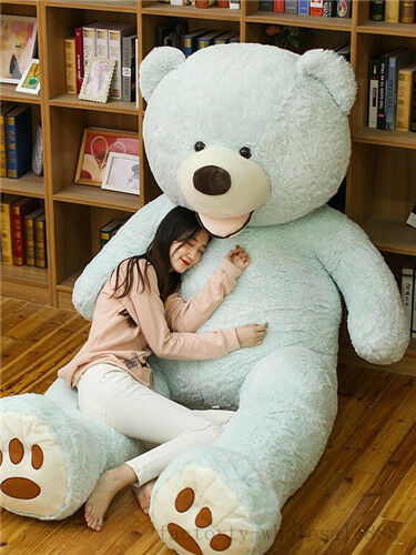 93'' Huge Large Jumbo 8 Foot Teddy Bear blu Plush Stuffed Animal Toys doll gift