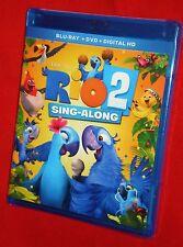BRAND NEW Rio 2 Sing-Along Version WS Blu-Ray DVD + HD Digital Combo Buy Now !