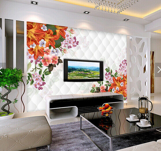 3D Farbe Petals 553 Wallpaper Murals Wall Print Wallpaper Mural AJ WALL AU Kyra