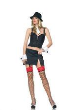 Gangsta Lady Costume M/L Gangster Fancy Dress Mafia - 83292 - Ladies Fancy Dress