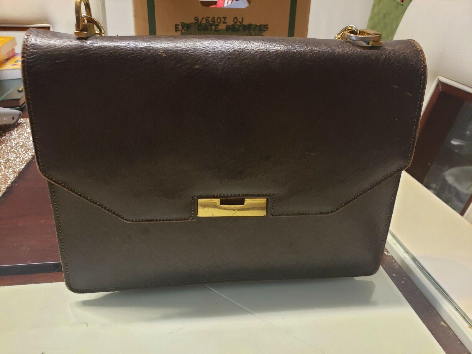 Vintage GUCCI Classic Brown Kelly Purse Handbag T… - image 12