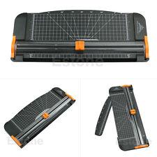New Jielisi 909-5 A4 Guillotine Ruler Paper Cutter Trimmer Cutter Black-Orange