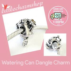 New-Authentic-PANDORA-Silver-Watering-Can-Hanging-Charm-797873ENMX-RETIRED