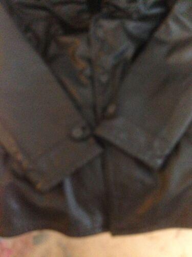 42 Georgio taglia Armani genuina in pelle Giacca nera 67qwt