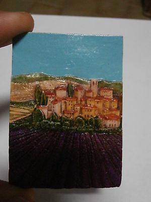 ** Rare Kühlschrank Magnet Panorama Italienisch Magnet Kühlschrank Selten ** Klar Und GroßArtig In Der Art