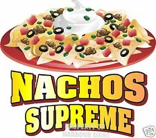 Nachos Supreme Decal 14 Concession Trailer Food Truck Vinyl Menu Sticker