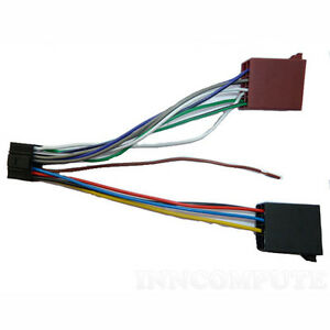 Details about KENWOOD STEREO LOOM 16-PIN ISO LEAD WIRING HARNESS CABLE on dual head unit wiring, alpine head unit wiring, sony head unit wiring,