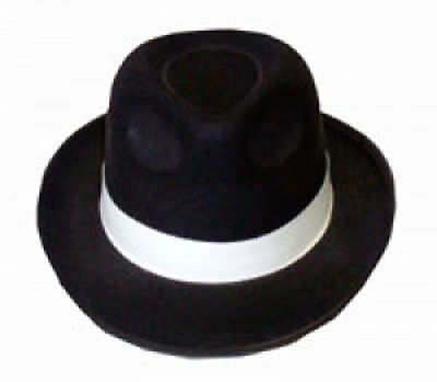 Kleidung & Accessoires Hat Trilby Al Capone White Gangster