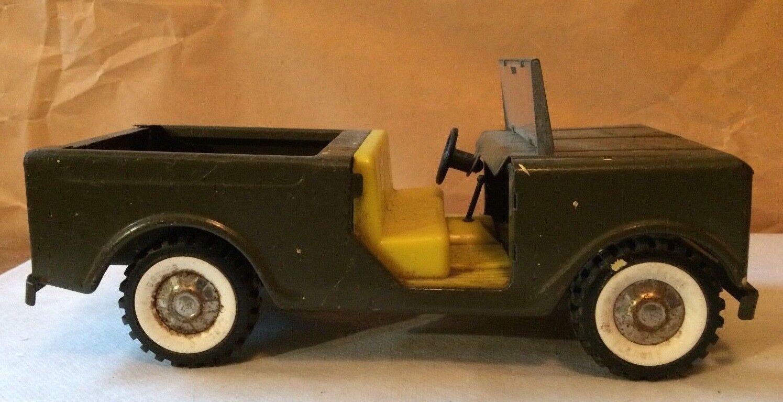 Vintage 1960s Structo verde Militar Jeep -- Parabrisas Original