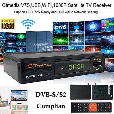 Satellite TV Receiver Decoder Gtmedia V7S Full HD 1080P WIFI DVB-S//S2 Powervu