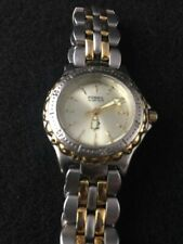 052fc625f Fossil Blue AM 3118 Vintage Womens Two Tone 50 Meters Water Resistant Watch