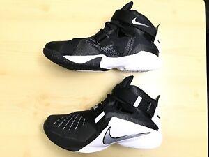 on sale 42842 02f3c Details about Nike LeBron Zoom Soldier IX TB Men's Size 10 White/Black  749498-001 Free S/H