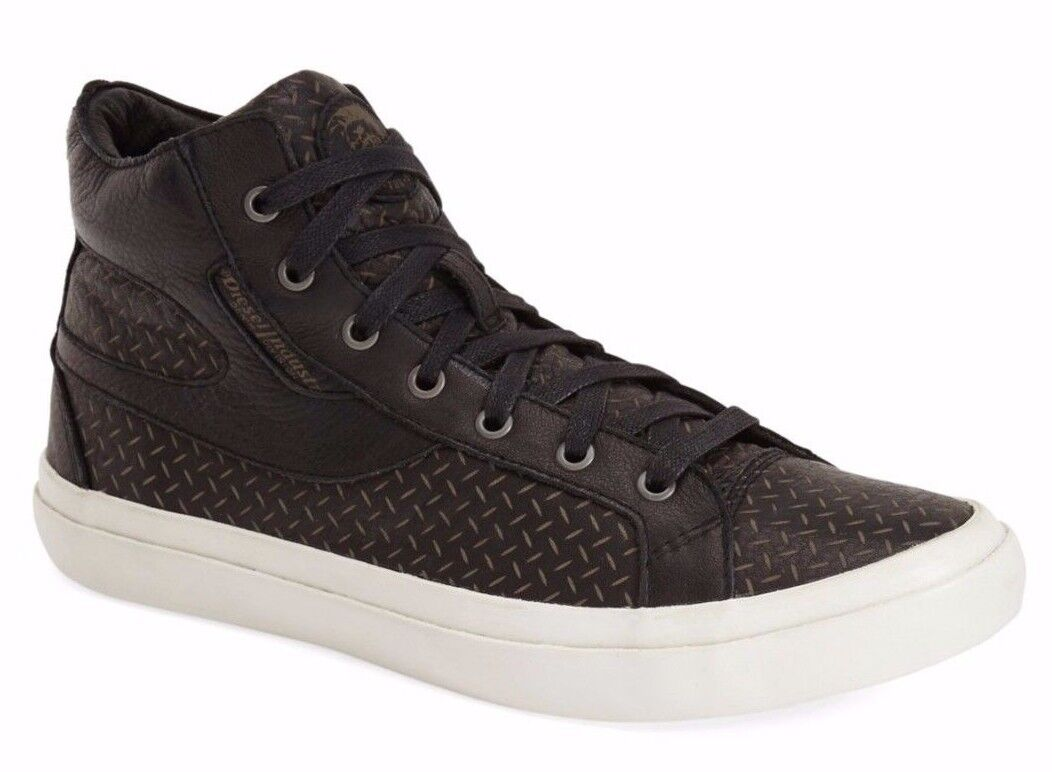 NWT  195 Diesel Volckran Men's S Kwaartzz Fashion Sneakers shoes Black Size 10