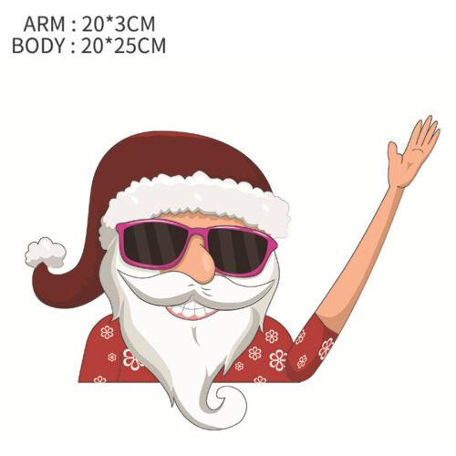 Xmas Christmas Waving Santa Car Wiper Sticker Rear Windshield Decals Decor US
