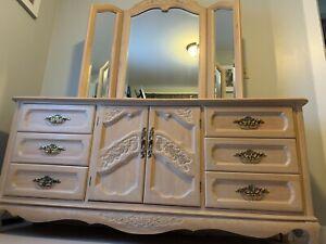 Whitewashed Oak Bedroom Set Wardrobe Bureau Nightstand 500 Bo Ebay,Beautiful Flower Images To Draw