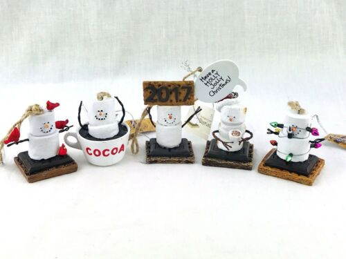 5 The Smores Originals Christmas Tree Ornaments 2017 Hot Chocolate Marshmallows
