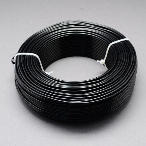 2mm Aluminio Craft floristería Alambre Negro 3m longitudes de fabricación de joyas