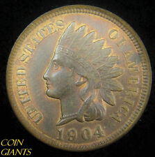 1904 1c Indian Head Cent Red Brown Uncirculated UNC RB BU US Type Penny Coin