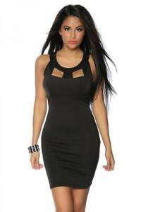 premium selection c8fd0 ceeb0 Details zu schlichtes Etui-Kleid schwarz elegantes Kleid figurbetont  Abendkleid kurz Gr M