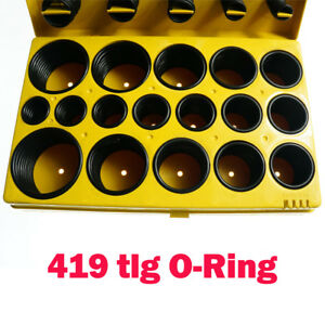 Deutscher-Standard-O-Ring-Sortiment-419-tlg-Set-Dichtungsringe-Dichtung-Ringe-DE