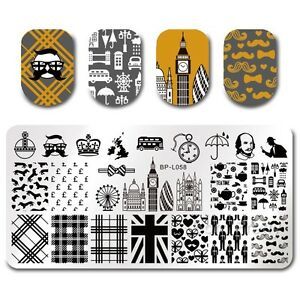 BORN-PRETTY-Template-Stamping-London-Guard-Big-Ben-Nail-Art-Image-Plate-BPL-58