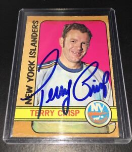 TERRY-CRISP-NEW-YORK-ISLANDERS-SIGNED-1972-73-O-PEE-CHEE-88-CARD-AUTOGRAPHED